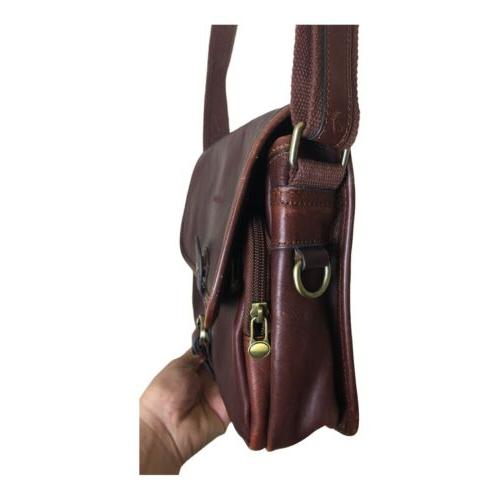 Vintage Small Brown Leather Purse Women