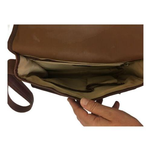 Vintage Small Brown Leather Messenger Purse