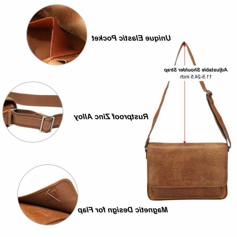Banuce Soft Grain Italian Leather Bag Men Cro