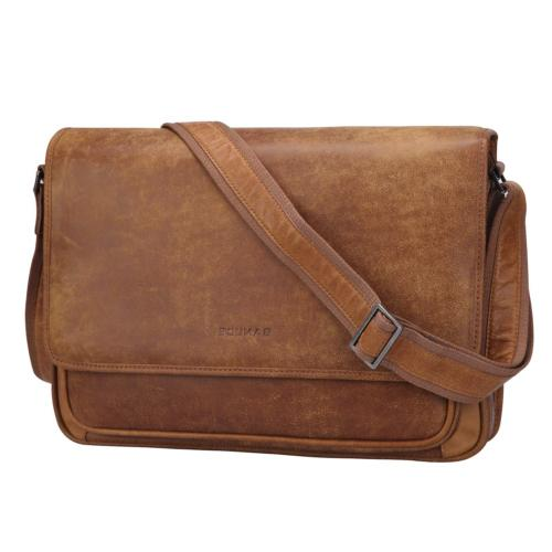 Banuce Vintage Soft Full Grains Italian Leather Messenger Ba