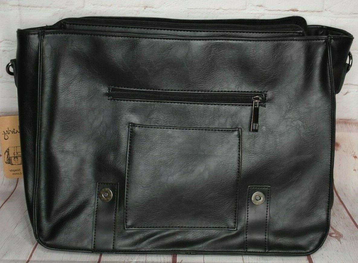 Berchirly Vintage Leather Briefcase Shoulder Bag
