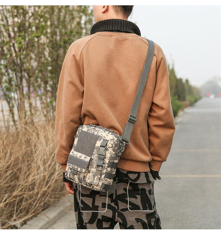 Waterproof Small Canvas Messenger with Strap
