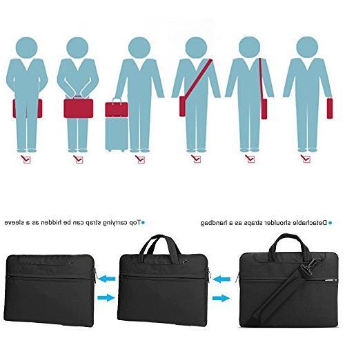 Lacdo Inch Fabric Laptop Shoulder Bag Notebook Case Macbook Pro 2012-2015 ASUS Dell Inspiron Lenovo HP Chromebook,