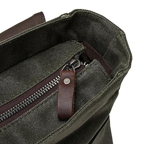 "Waterproof Waxed 15"" Macbook Messenger Vintage shoulder bag/Briefcase"