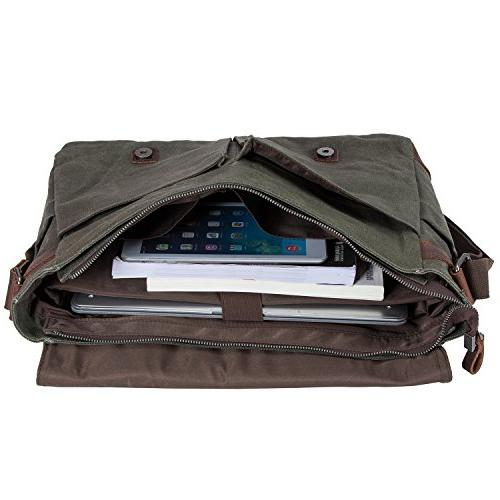 Waterproof Macbook pro/ Laptop Messenger Men Business Vintage shoulder bag/Briefcase