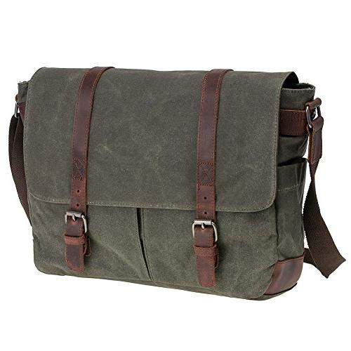 Waterproof Macbook pro/ Messenger Business Vintage bag/Briefcase