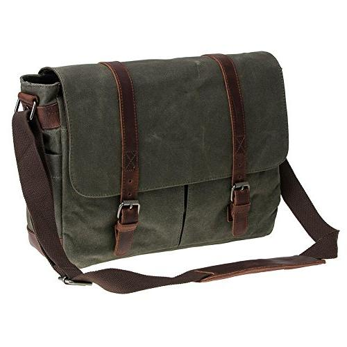 Waterproof Macbook 14'' Messenger Bag Men Business Vintage bag/Briefcase