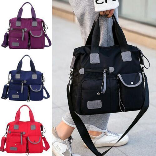Waterproof Nylon Large Messenger Bag Capacity Crossbody
