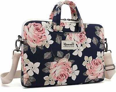 Canvaslife Rose Canvas Shoulder Bag Sleeve 14 Inch Laptop 15 Case Laptop Briefcase Inch