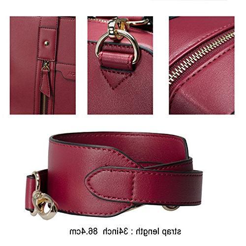 Estarer Business Handbag Leather Inch Shoulder Laptop Bag