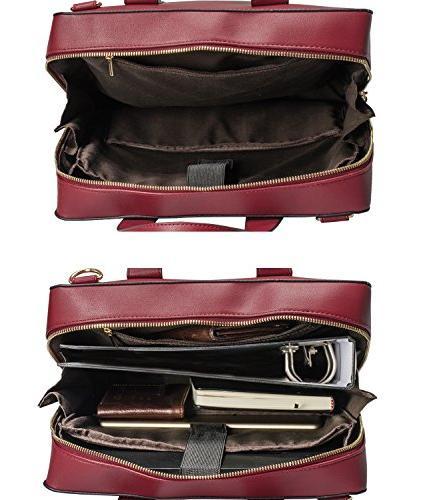 Estarer Women Handbag Leather 15.6 Inch Laptop Bag