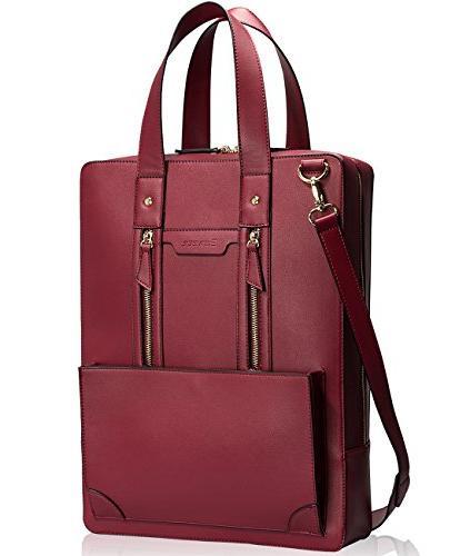 Estarer Briefcase Handbag Leather Inch Laptop Work Bag