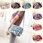 Women Girls Canvas Floral Messenger Cross Body Handbag Shoul