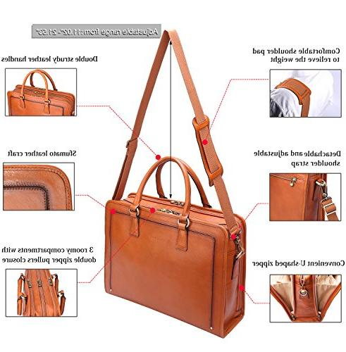 Banuce Womens Leather Briefcase Bag Laptop Case