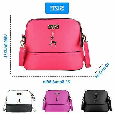 Women Ladies Leather Shoulder Bag Messenger