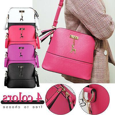 women ladies leather handbag shoulder bag crossbody