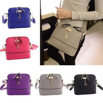Women Ladies Leather Shoulder Bag Tote Purse Handbag Messeng