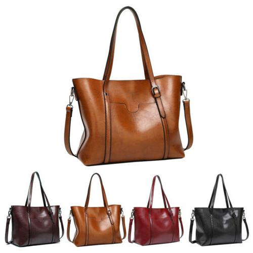 Women Large Handbag Leather Shoulder Purse