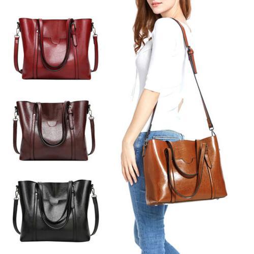 women large retro handbag leather shoulder bag