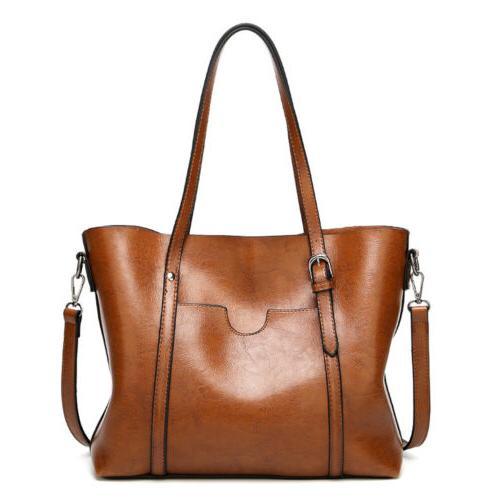 Women Leather Tote Handbag Messenger Bags