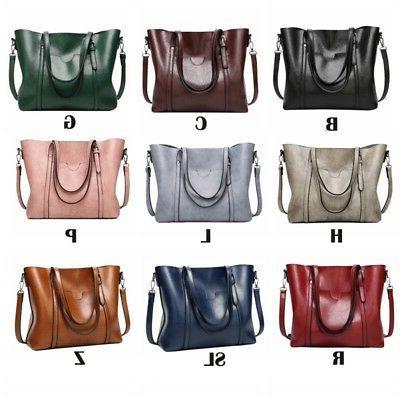 Women Wax Tote Handbag Handbag Soft Shoulder Bag
