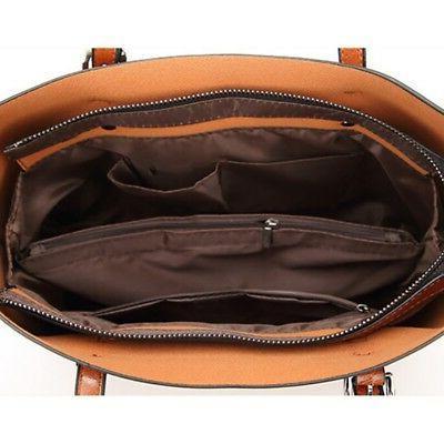 Women Leather Tote Handbag Shoulder