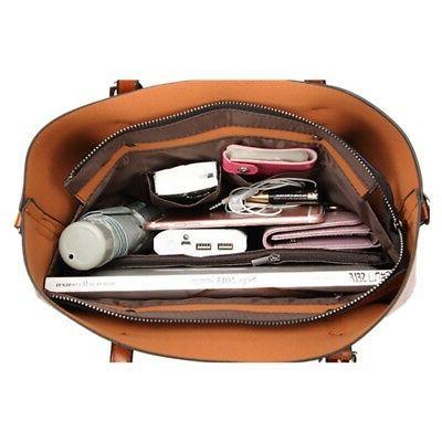 Women Leather Tote Large Handbag Shoulder Bag