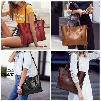 Women Oil Tote Messenger Handbag Handbag