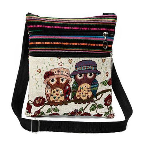 Women Owl Messenger Bag Crossbody Bag Purse Vintage