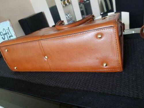 "Women's Banuce Grain Leather 14"" Case NEW"