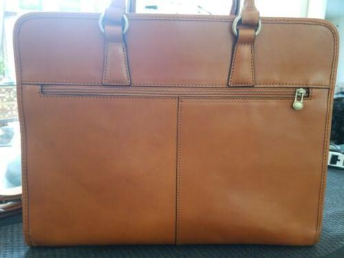 """Women's Banuce Leather Satchel 14"""" Laptop Case"""
