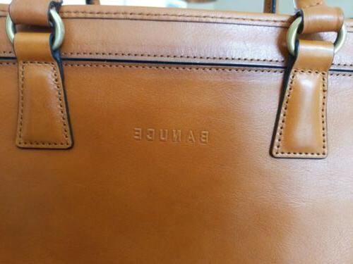 "Women's Leather Messenger 14"" Laptop Case"