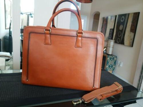 women s full grain leather messenger satchel