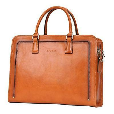 Banuce Women's Leather Briefcase Bag Laptop