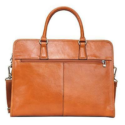 Banuce Leather Briefcase Messenger Bag 14 Laptop
