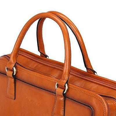 Banuce Full Grains Leather Briefcase Bag 14
