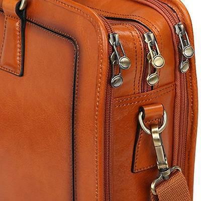Banuce Women's Grains Leather Briefcase Bag Laptop