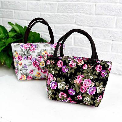 women s ladies canvas floral handbag tote
