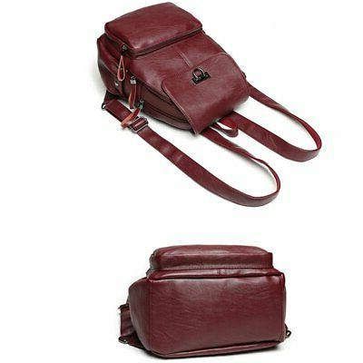 Sanxiner Women's Leather Casual Daypack Purse Bag for