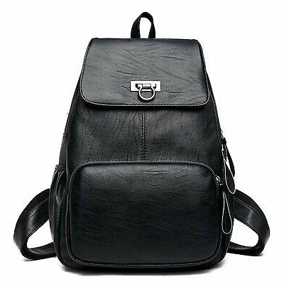 Sanxiner Women's Leather Backpack Casual Daypack Bag Ladies