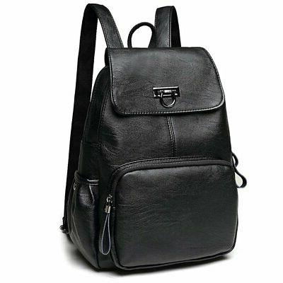 women s leather backpack casual daypack purse