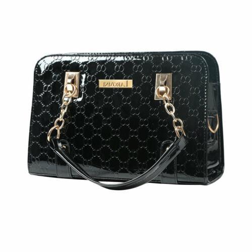 Women's Leather Handbag Shoulder Bags Purse Messenger Hobo Bag Black