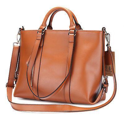 Kattee Women Soft Cowhide Leather Handbag Shoulder Messenger
