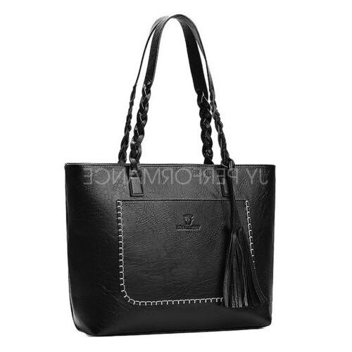 Women Women Leather Bags Handbag Shoulder Hobo Purse Messenger 87