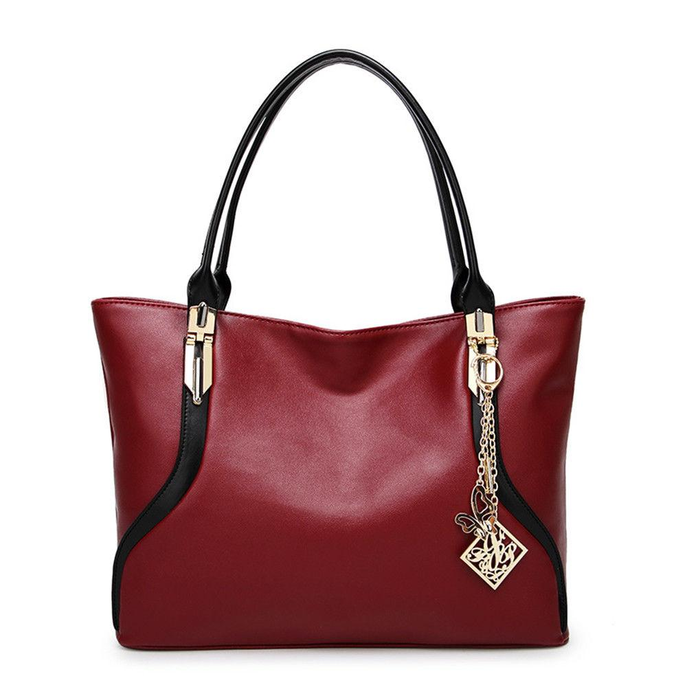 Women Tote Leather Handbag Shoulder Crossbody
