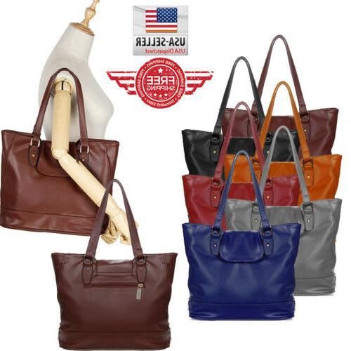 women tote leather shoulder bag handbag messenger