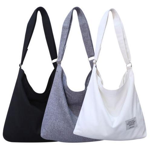 Women Vintage Canvas Hobo Bag Shoulder Purse Zip Handbag US