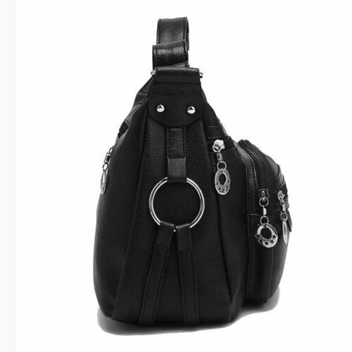Womens PU Leather Handbag Crossbody Messenger Bag
