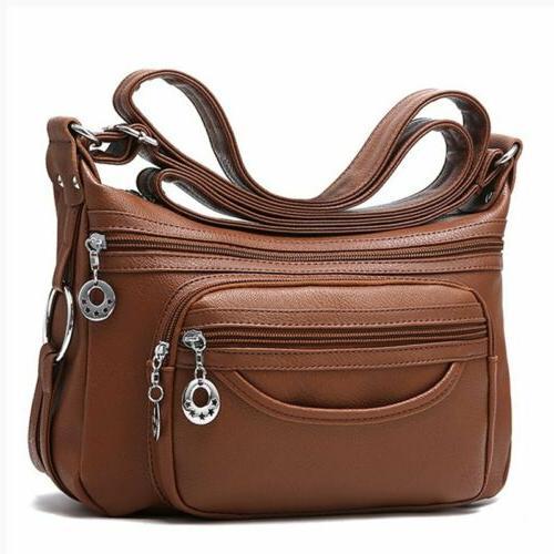 Womens Casual Leather Shoulder Bag Handbag Messenger