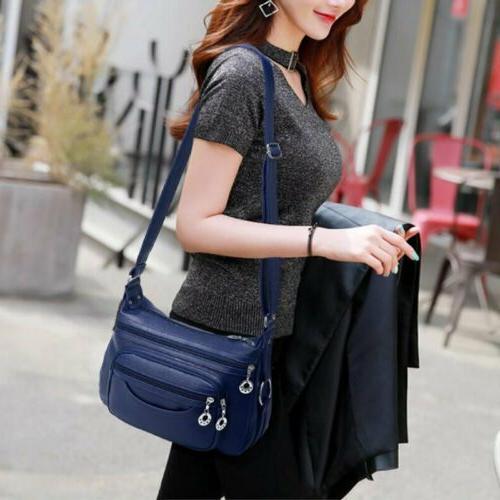 Womens Casual PU Leather Bag Lady Handbag Crossbody
